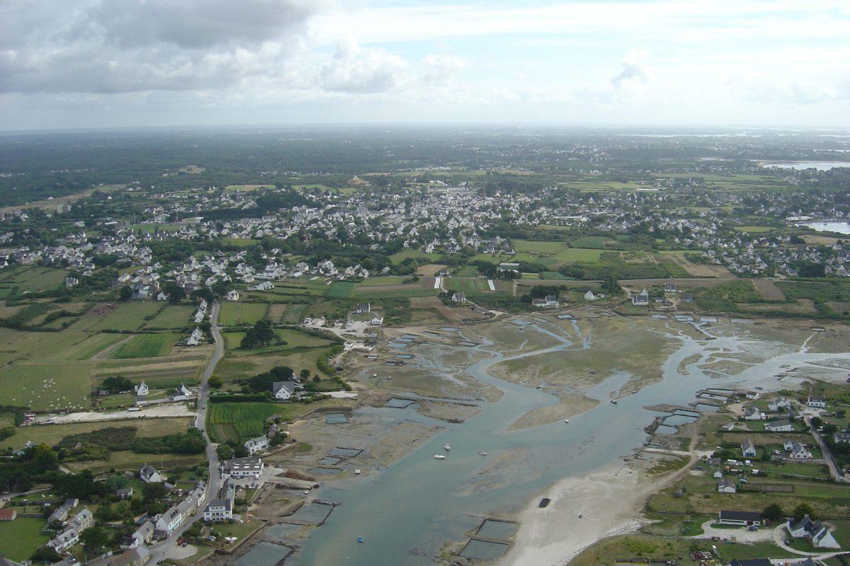 Vue aerienne Kerand - Anse Pô